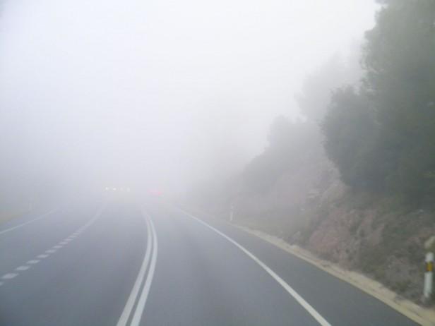 Tránsito con precaución por lluvias y neblina en varias rutas nacionales