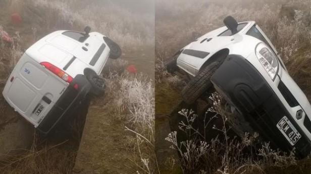 Una furgoneta desbarrancó en El Infiernillo