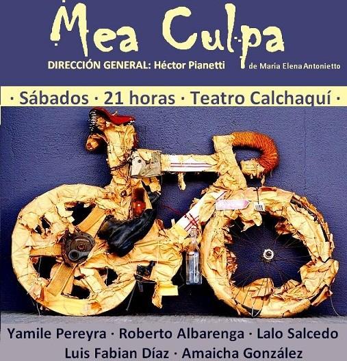 """Teatro """"Mea Culpa"""" en el salón Calchaquí"""