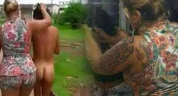 Desnudó a la amante de su marido y la paseó por el vecindario