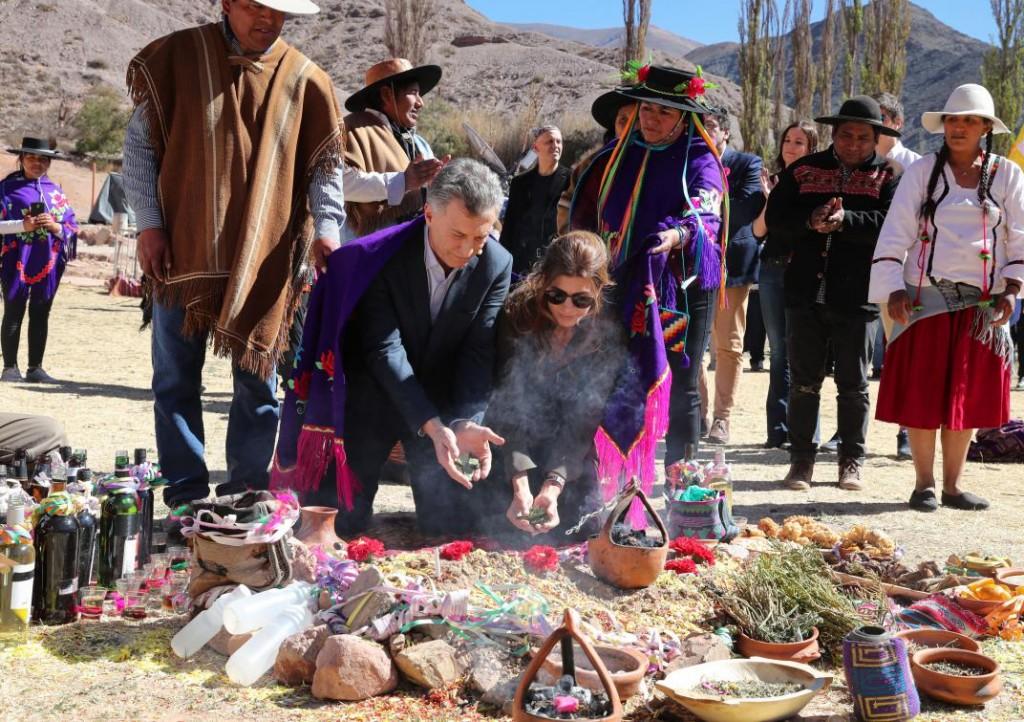 Macri en la ceremonia de la Pachamama: Muchos argentinos se olvidan dónde estábamos en 2015