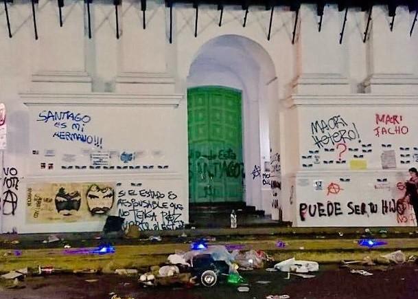 Cuánto costará arreglar el Cabildo tras la marcha de Santiago Maldonado