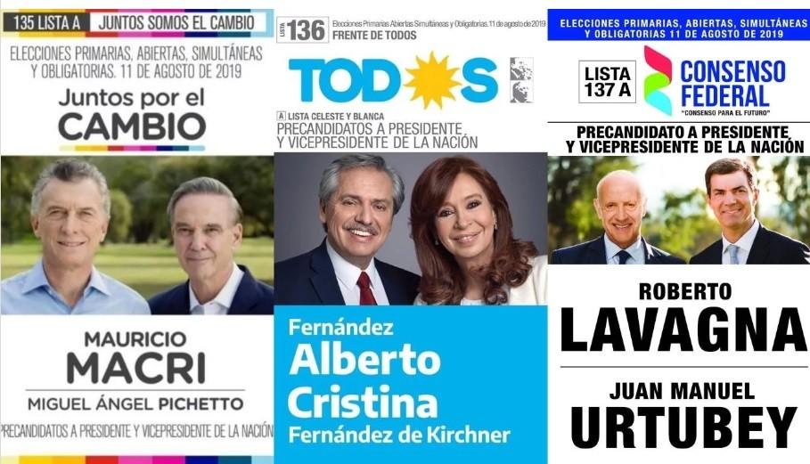 Elecciones 2019: una por una, todas las boletas presidenciales que estarán en el cuarto oscuro