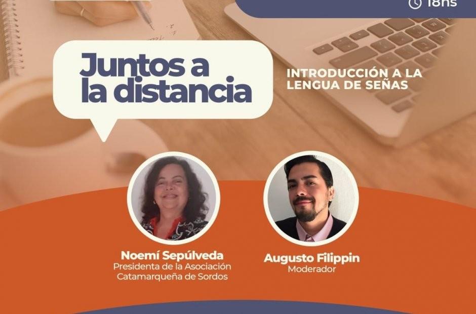El lenguaje de señas en un nuevo encuentro a la distancia de la Vicegobernación
