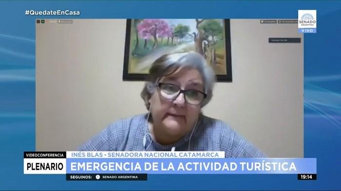 La senadora Blas pidió incluir a Catamarca en el proyecto de emergencia de la actividad turística