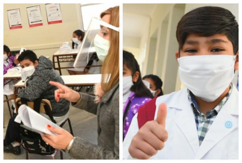 Kit anti COVID y aulas burbujas: cómo fue la vuelta a clases en la provincia de San Juan