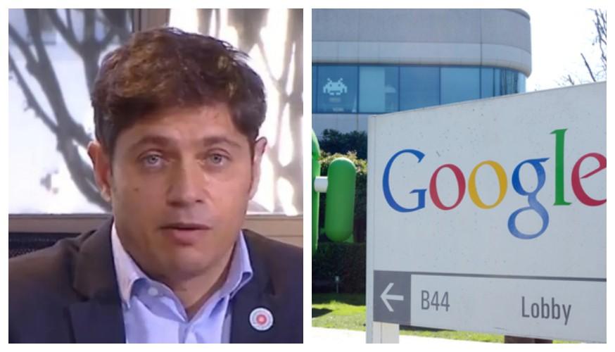 """""""La empresa de celulares"""": el furcio de Axel Kicillof para referirse a Google"""