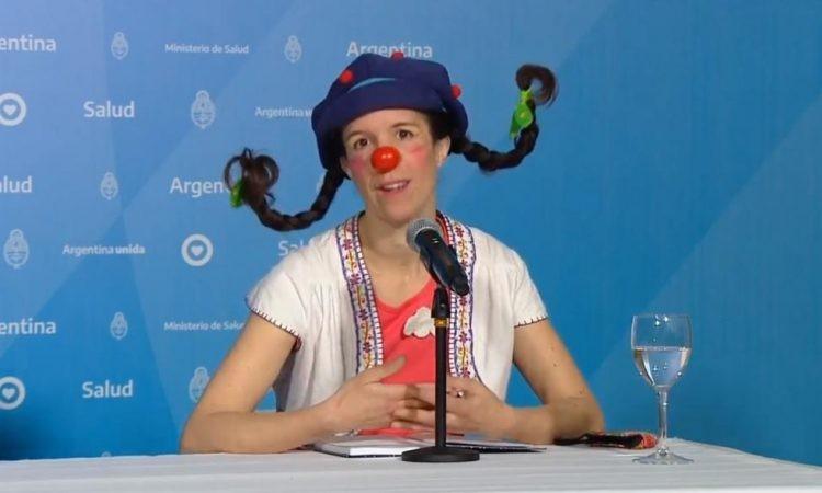 Quién es Filomena, la payasa que participó del reporte diario de coronavirus este domingo