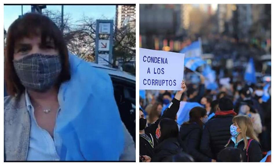 Patricia Bullrich, en la marcha del 17A: