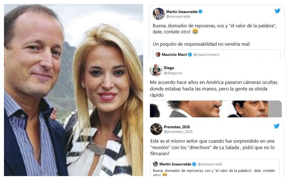 """Insaurralde llamó """"domador de reposeras"""" a Macri y desató la polémica en Twitter"""