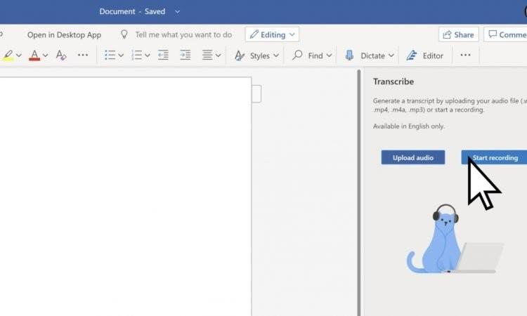Word incorpora una nueva función que permite transcribir tus archivos de audio a texto