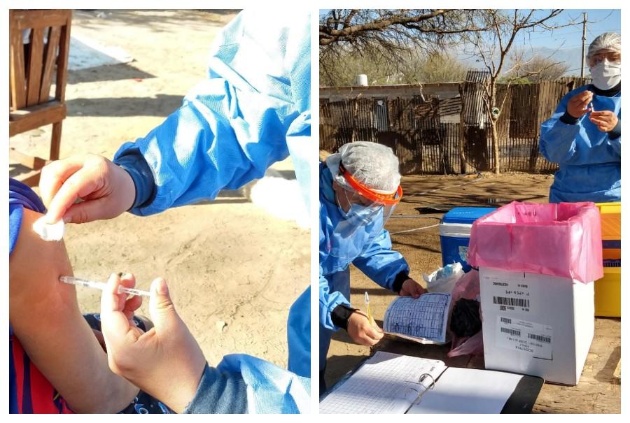 Operativo de vacunación en Valle Chico