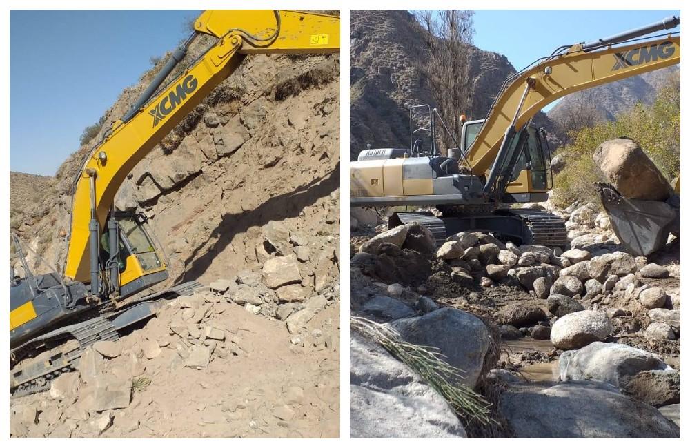 Trabajos de reconstrucción del camino que une Río Grande con Tatón