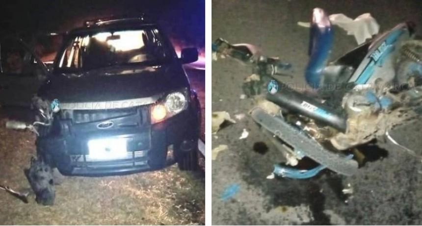 Motociclista perdió la vida trás chocar contra una camioneta