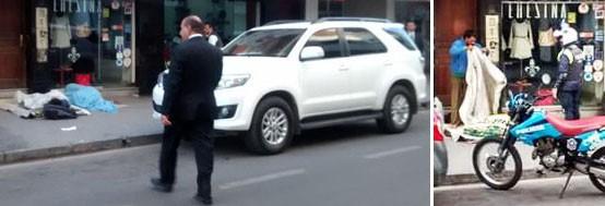 Manzur: vio a dos personas durmiendo en la vereda junto a su camioneta y la policía los retiro