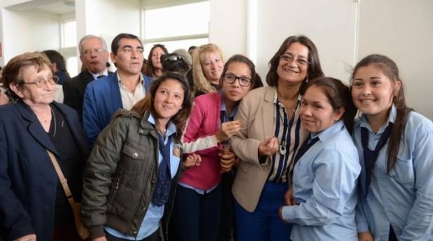 Lucía inauguro el nuevo edificio de la Esc Sec N° 64  en Lavalle