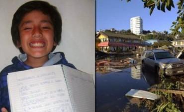 Aseguran que un nene de 8 años predijo el terremoto en Chile