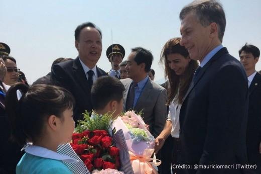 Macri llegó a China, donde se reunirá con Xi Jinping y Putin, y participará del G20