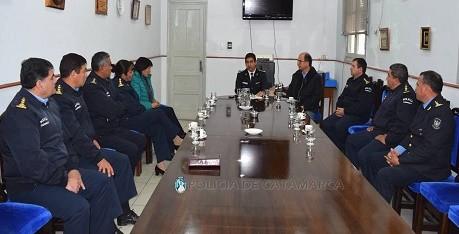 Reunión: el Secretario de Seguridad, el nuevo Jefe de Policía y Oficiales Superiores de la Fuerza