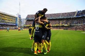 Boca goleó a Belgrano y uno de los tantos lo hizo Tevez, que se fue expulsado