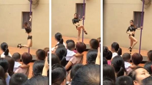 Insólito: directora inauguró jardín de infantes con el baile del caño