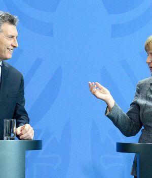 Macri recibió el apoyo de Merkel por el acuerdo con el FMI