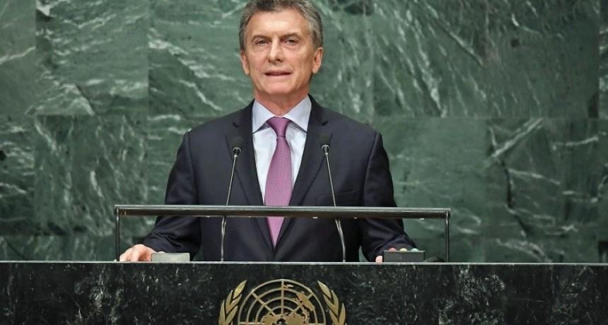 Macri habla en Nueva York ante la ONU