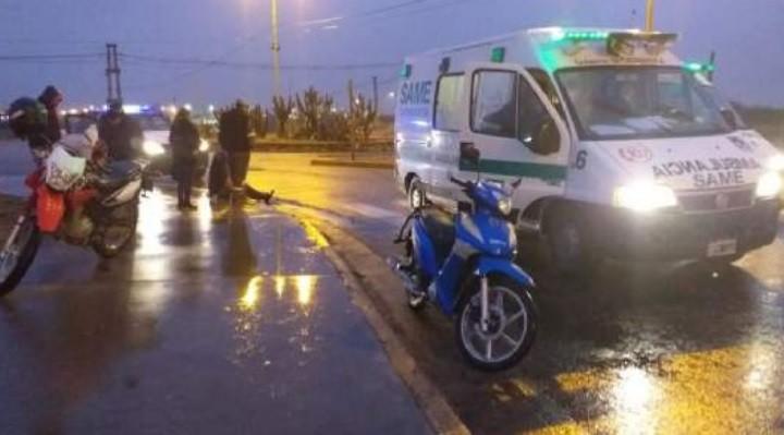 Accidente en la zona del Predio Ferial: dos heridos