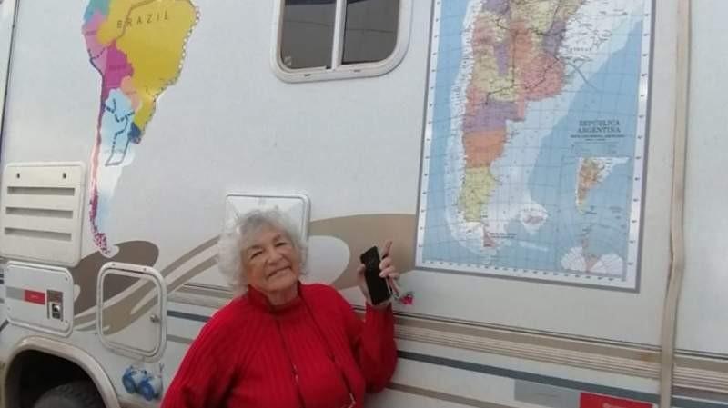 Jubilada vendió todo y recorre Sudamérica en un motorhome