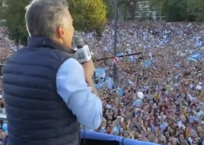 Una multitud apoyó a Macri en la primera marcha del  Sí, se puede