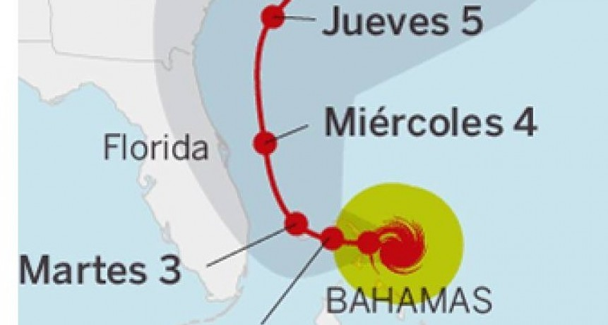 El huracán Dorian azotó Bahamas y esperan que llegue a la costa de Florida