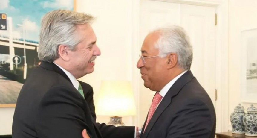 Alberto Fernández se reunió con el primer ministro portugués