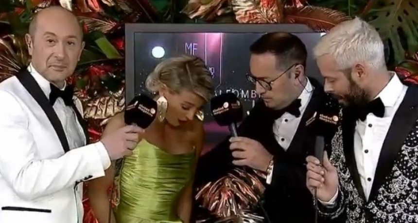 A Sol Pérez le pusieron remolacha para mancharle el vestido durante la entrega de los Martín Fierro de Cable