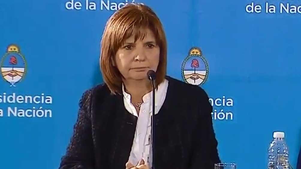 Patricia Bullrich: Los compañeros de Maldonado no hicieron nada