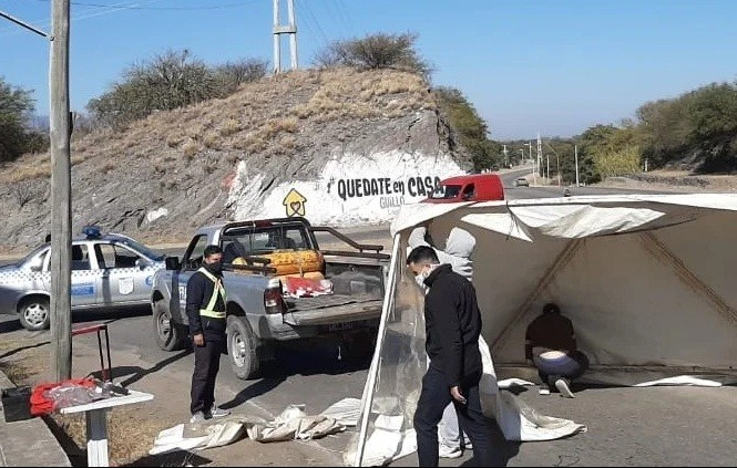 Vuelven los controles en Ruta 1 para ingresar a Fray Mamerto Esquiú