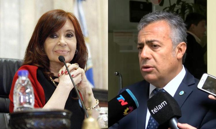 """Su relato tiene patas cortas"": la dura respuesta de Cornejo a Cristina Kirchner"