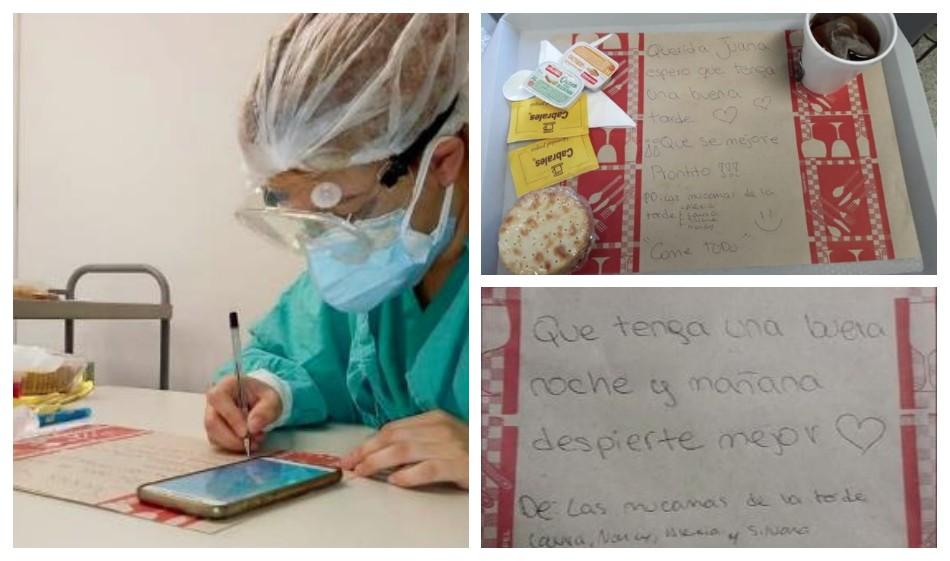 El espectacular gesto de las trabajadoras de un hospital hacia los pacientes aislados por COVID
