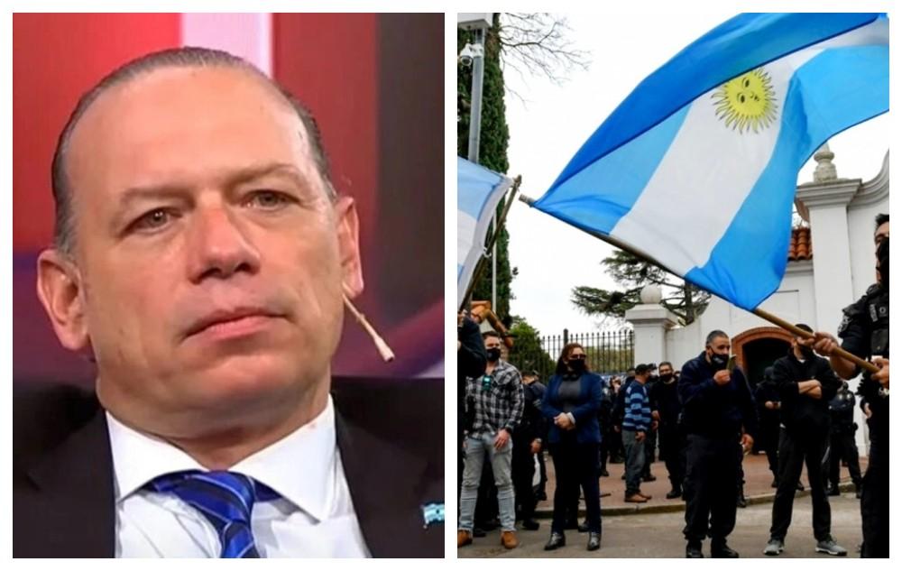 Berni acusó a los efectivos que protestaron en la quinta de Olivos de estar drogados y alcoholizados