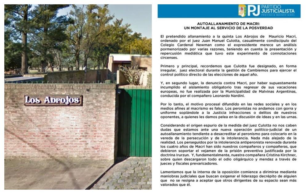 """El PJ bonaerense acusan a Macri de haberse """"autoallanado"""""""