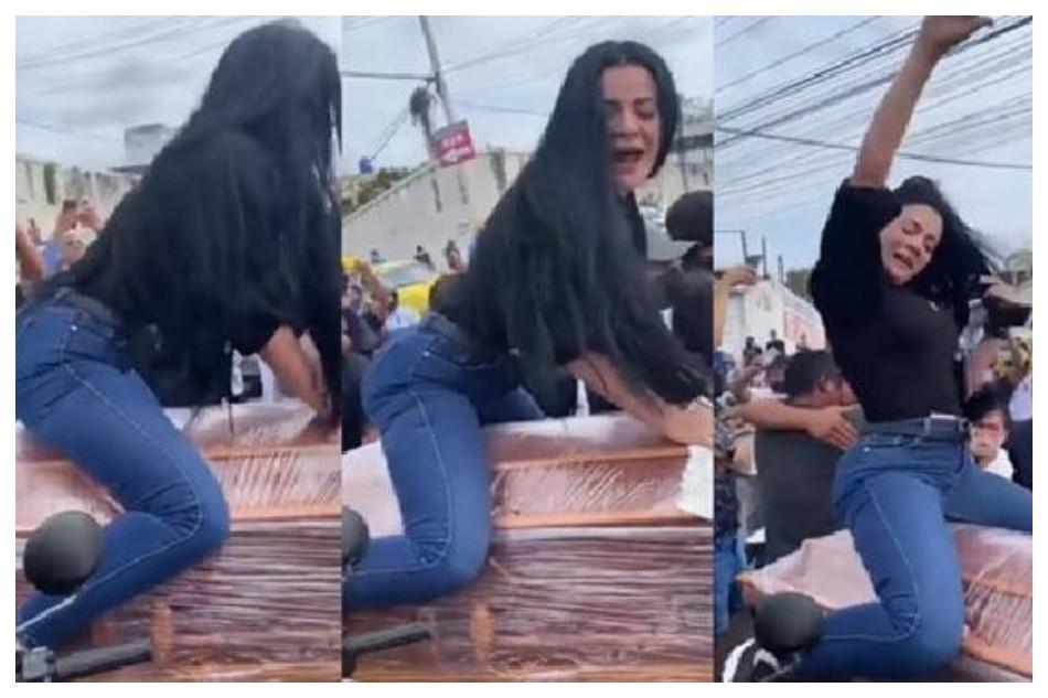 Insólito: una mujer bailó reggaeton arriba del ataúd de su pareja