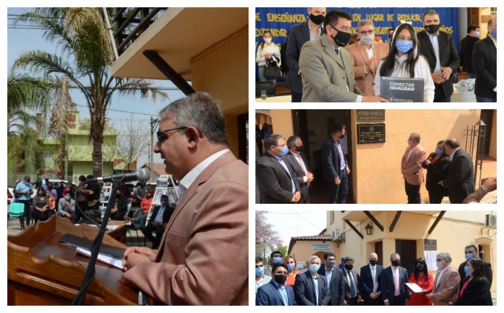 Jalil visitó Andalgalá donde entregó netbooks y equipamiento sanitario