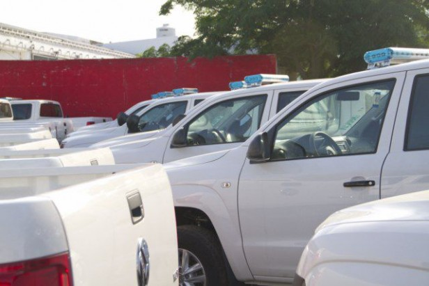 Moviles enviados desde Nación para la Policía local