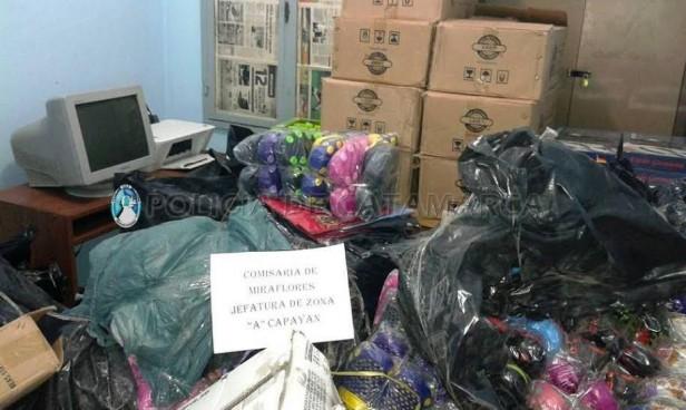 La policía atrapo al autor de desvalijar una tienda de ropa en Belén