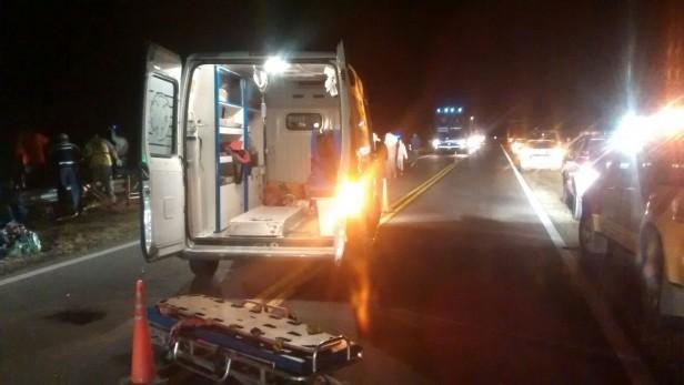 Las víctimas del micro que volcó anoche estan fuera de Peligro