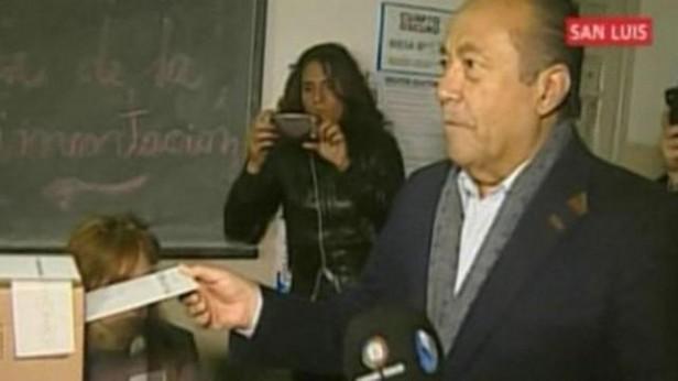 Rodríguez Saá fue el primer candidato a presidente en votar