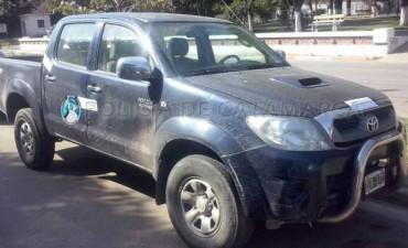 Secuestran camioneta que tenia requerimiento Judicial