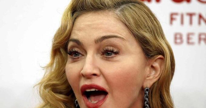 Madonna se fue de boca