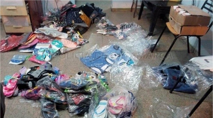 Secuestran mercadería ilegal en El Portezuelo