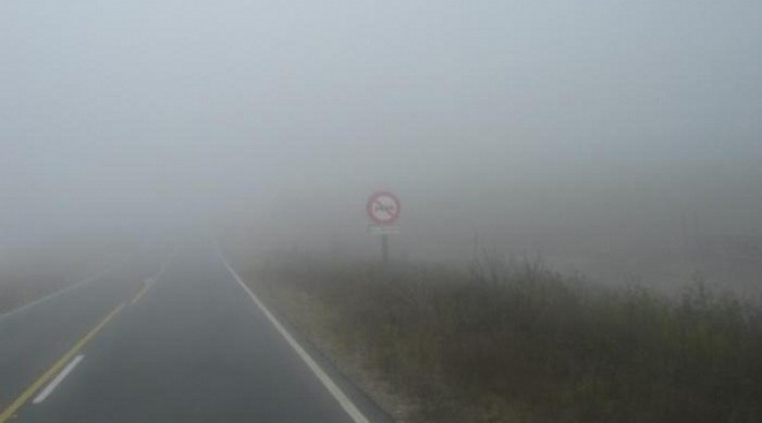 Sigue la advertencia por lluvia y niebla en el Totoral