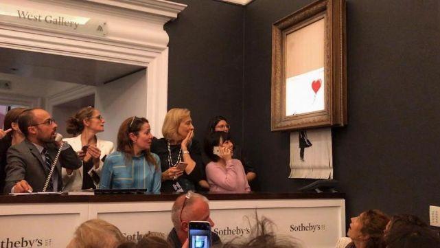 El artista Banksy destruyó su obra más valiosa luego de subasta millonaria